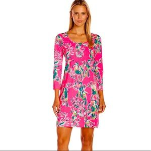 NWOT Lilly Pulitzer Beacon Toucan Hot Pink Dress